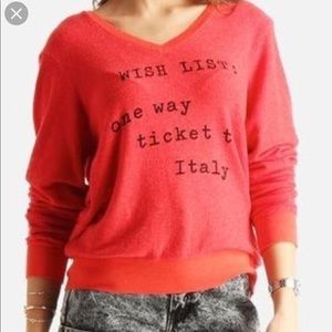 Wildfox Wish list: one way ticket to Italy Jumper